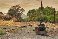 Old railway line junction  Stock Images