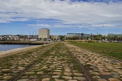 Old Railway Line In Le Havre Royalty Free Stock Photos