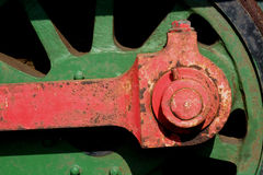 Old  railway loco wheel  detail Royalty Free Stock Photo