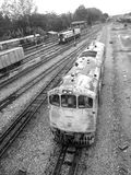 Old railway locomotive Stock Images