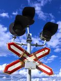 Old railway semaphore against the sky Royalty Free Stock Images