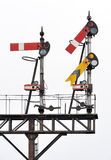 Old railway semaphore signals Royalty Free Stock Photo
