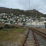 Old Railway through small and peaceful village  in Simon Town , South Africa Stock Photos