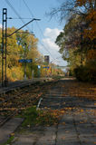 The old railway station in the autumn. Stock Photography