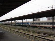 Old railway station in Belgrade stock photo