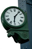 Old railway station clock Royalty Free Stock Images