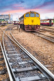 Old railway station at dusk Royalty Free Stock Image