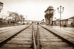 Old railway station in Russia Royalty Free Stock Images