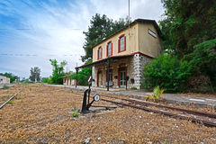 Old Railway station. View of an old, picturesque railway station at Peloponnese, Greece Stock Photography