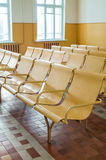 Old railway station waiting room Royalty Free Stock Image