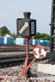Old railway switching device Royalty Free Stock Photography