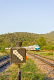 Old railway switching device. The old railway switching device Royalty Free Stock Images
