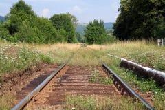 Old railway track. In Gluszyca (Poland Stock Photo