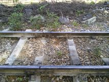 Old railway track. stock images