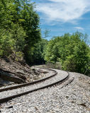 Old railway track at High Falls of Cheat Stock Images