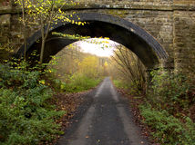 Old railway track now walkway, Wyre Forest Royalty Free Stock Photos