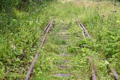 Old railway track royalty free stock image