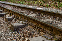 The old railway track Stock Photo
