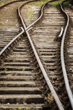 Old railway tracks. In Bristol UK royalty free stock images