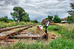 Old railway tracks Royalty Free Stock Photo