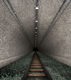 Old railway tunnel stock image