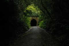 Old Railway Tunnel in New-Zealand stock images