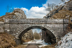 Old Railway Tunnel. On the now abandoned railway line on the Monsal Trail, Peak District Royalty Free Stock Photos