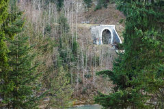 Old railway Tunnel under mountain Royalty Free Stock Photography