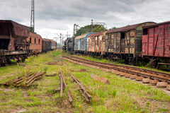 Old railway wagon Royalty Free Stock Images
