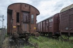 Old railway wagon Stock Photography