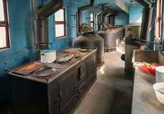 Old railway wagon kitchen Royalty Free Stock Image