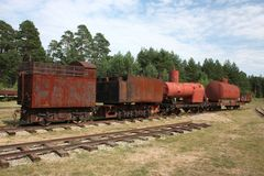 Old railway wagon. Royalty Free Stock Photos
