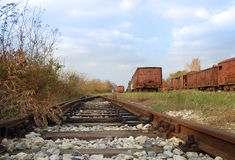 Old railway wagons Royalty Free Stock Photos