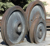 Old railway wheels Royalty Free Stock Image