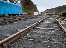 Old railway yard Royalty Free Stock Photography