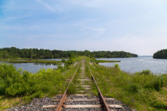 Old Railyway in Nova Scotia Royalty Free Stock Photography