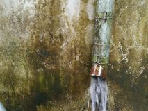 Old rain gutter pipes Stock Photography