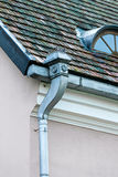 Old rain gutter Royalty Free Stock Image