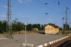 Old raiway station. Old railway station in central Bulgaria Royalty Free Stock Photography