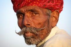Old Rajasthani man in Jaisalmer, India Stock Photo