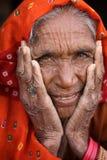Old Rajasthani woman in Jaisalmer, India Royalty Free Stock Photos
