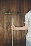 Old rake Royalty Free Stock Images