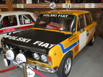 Old rally car, Polish Fiat 125p stock photography