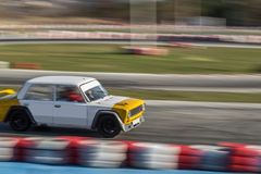 Old rally car on the track Royalty Free Stock Photo