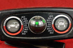Old rally compass Stock Photos