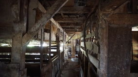 Old ranch inner. Inner side of an old crepulous ranch Stock Photo