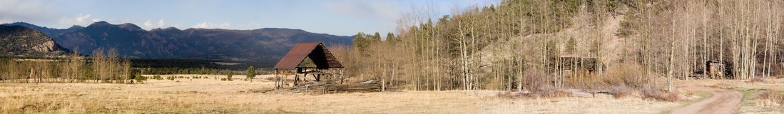 Old ranch panorama stock image