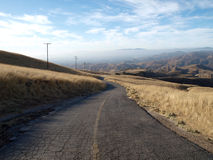 Old Ranch Road. Overlooking the San Fernando Valley in the City of Los Angeles, California Stock Photos