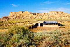 Old ranch at semi-desert landscape Stock Image