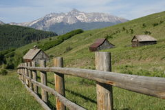 Old Ranch and Wilson Peak Royalty Free Stock Image